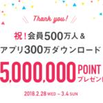 BUYMA500万ポイントキャンペーン開催中